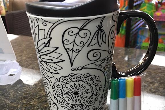 Wine & Mug Coloring