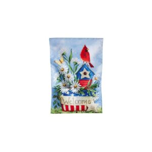 Patriotic Birdhouse  Bloom Pockets Garden Flag