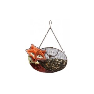 Resting Fox Mesh Bird Feeder
