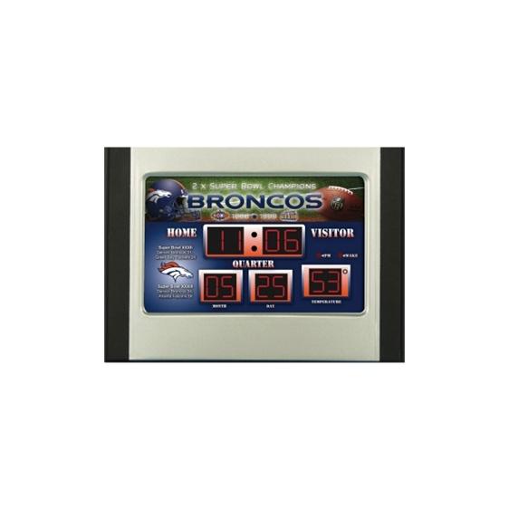 Broncos  NFL Scoreboard Alarm Clock