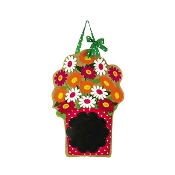 Burlap Chalkboard Bouquet Door Hanger