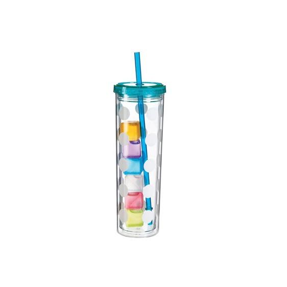 Aqua  Cypress Polka Dot Cup