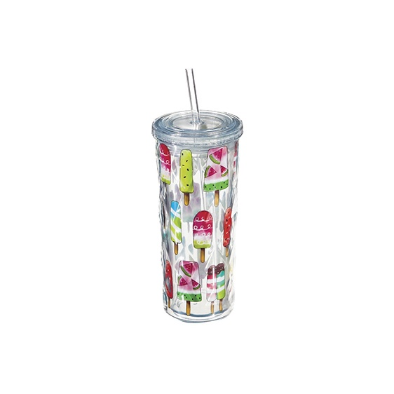 Popsicles Acrylic Cypress Textured Cold Tumbler