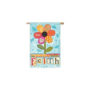 Suede Faith Garden Flag