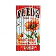 Red Poppy Corrugated Metal Flower Seed Packet Sign