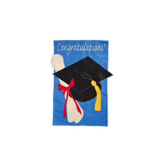 Graduation Garden Flag