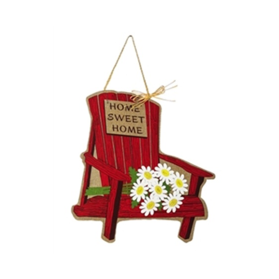 Burlap Home Sweet Home Door Hanger