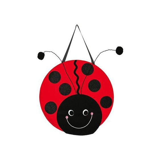Felt Ladybug Door Hanger