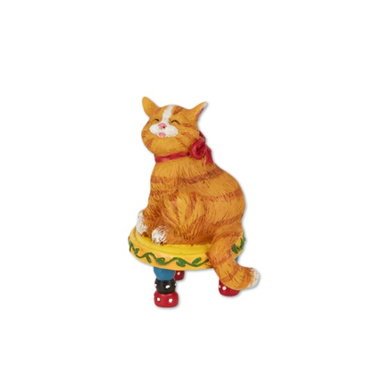 Merriment Mini Cat on Stool