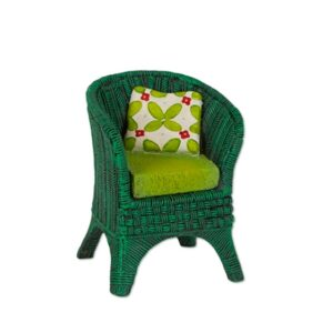 Merriment Mini Green Wicker Chair