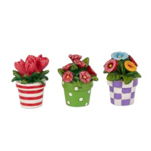 Merriment Mini Patterned Potted Flowers