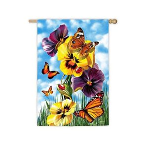 Suede Butterfly Ball Garden Flag