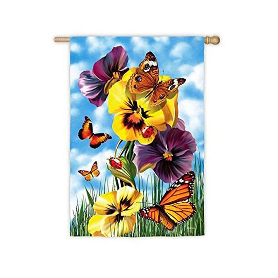 Suede Butterfly Ball Garden Flag