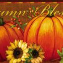 Pumpkin and Sunflower Sassafras Insert Mat