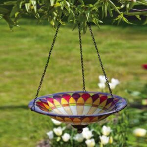 Glass Tiffany Hanging Birdbath