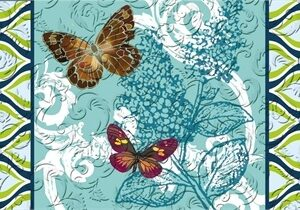Pretty Pattern Butterfly Embossed Mat