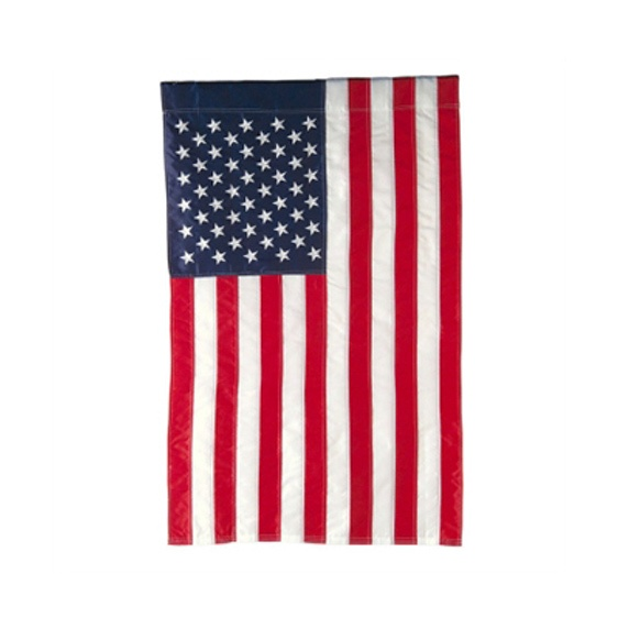 Applique American Flag House Flag