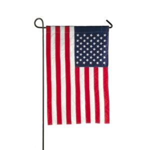 Applique American Flag Mini Garden Flag