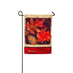 Suede Brilliant Autumn Mini Garden Flag
