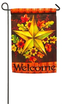 Fall Barn Star Garden Flag