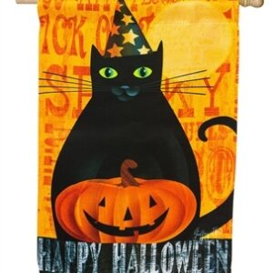 Halloween Night House Flag
