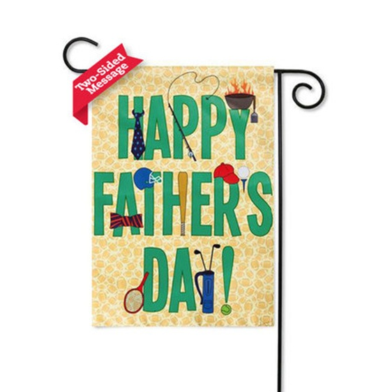 Suede Happy Father's Day Garden Flag