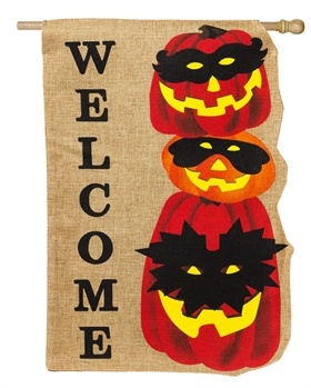 Jack O Lantern Gathering House Flag