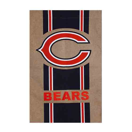 Burlap Chicago Bears Flag