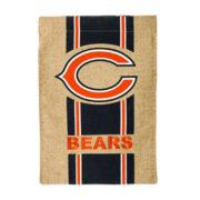 Burlap Chicago Bears Flag