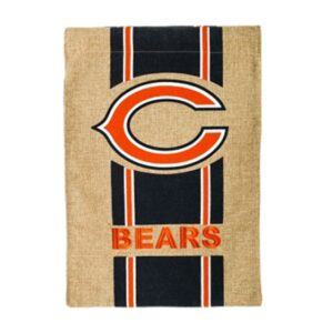 NFL Burlap Chicago Bears Flag