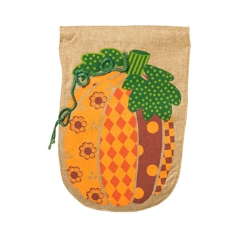 Patchwork Pumpkin Flag