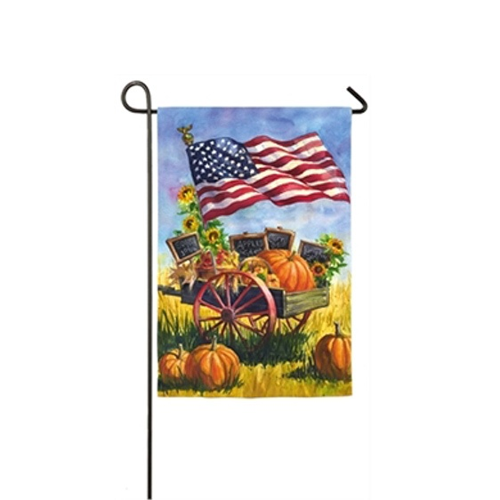 Suede Patriotic Farm Mini Garden Flag