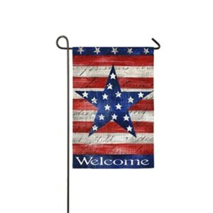 Suede Patriotic Strip and Star Garden Flag