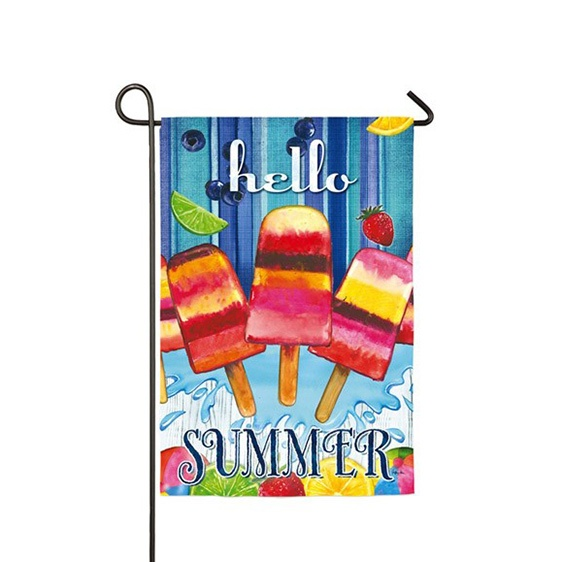 Suede Summer Popsicles Garden Flag