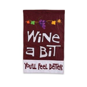 Applique Wine a Bit Flag