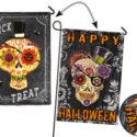 Chalk Skull Garden Flag