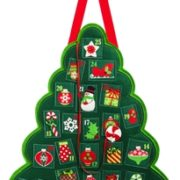 Christmas Tree Advent Calendar Door Decor
