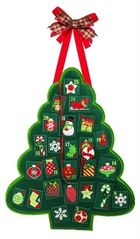 Christmas Tree Advent Calendar Door Decor