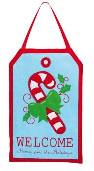 Candy Cane Felt Door Decor