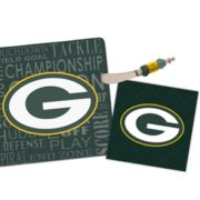 Green Bay Packers Cutting Board and Napkin Set