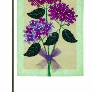 Hydrangea Blossoms Garden Flag