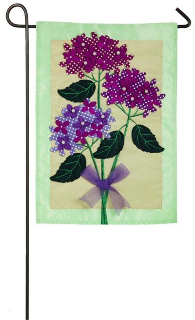 Hydragea Blossoms Garden Flag