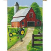 tractor-in-a-barn-flag