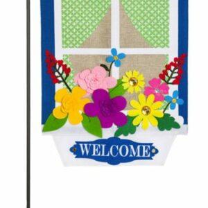 Burlap Window Box Garden Flag