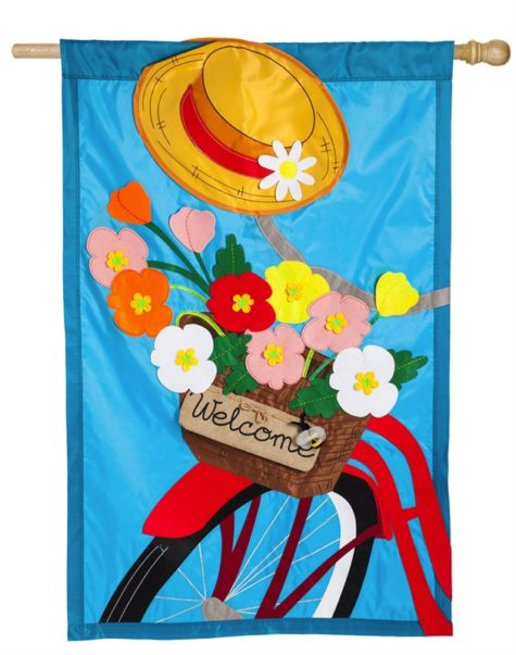 Bicycle Basket House Flag