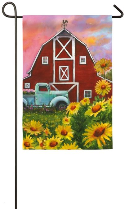 Big Red Barn Garden Flag