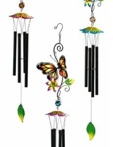 Butterfly Stained Glass Windchime