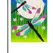 Dragonfly Dance Garden Flag