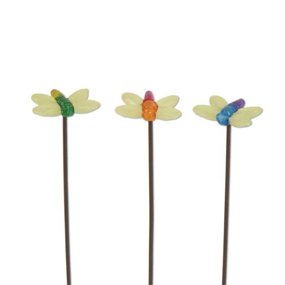 Gypsy Garden Mini Glow Dragonfly Picks