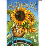 Happy Day Sunflower House Flag